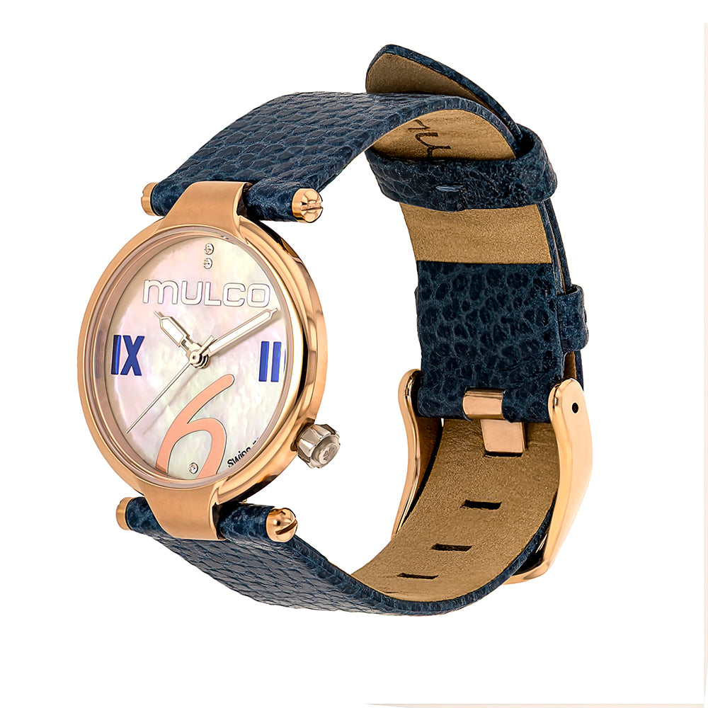 Ladies Watches | Mulco Mini Donna | Blue Leather Band | BlueReverse