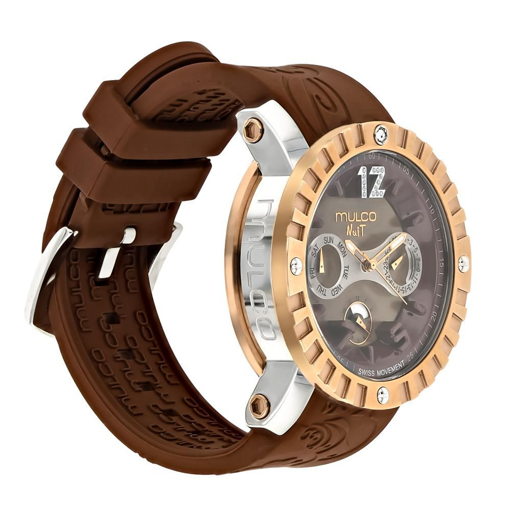 Ladies Watches | Mulco Nuit Lace XL | Brown Silicone Band