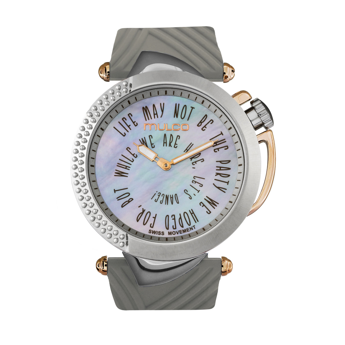 Womens Watches | Beige Silicone Band | Rose Gold accents | Water Resistant