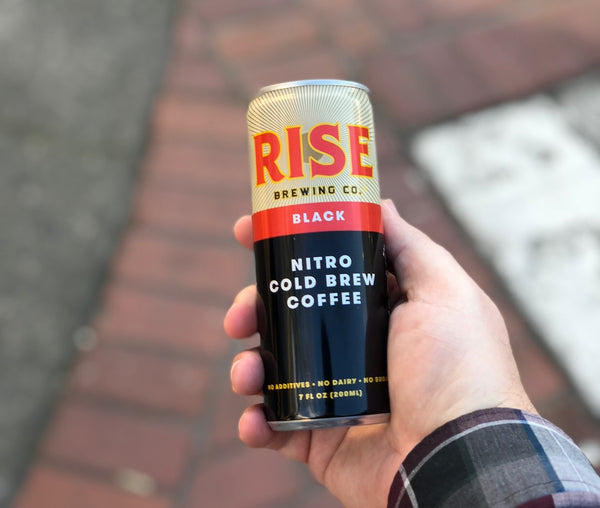 Organic, non-GMO RISE Brewing Co. nitro cold brew coffee Original Black in a can fuels your day