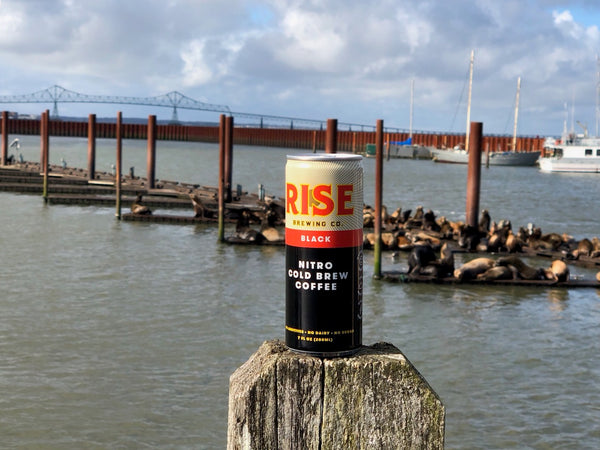 RISE coffee -- organic, non-GMO, sustainably-sourced nitro cold brew in a can -- in Oregon