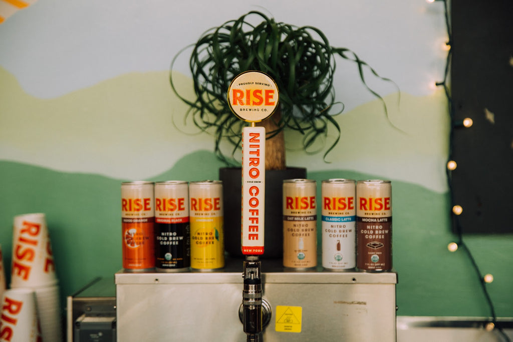 RISE Nitro Brewing Co. | Nitro Cold Brew Coffee on tap and in a can | USDA Organic