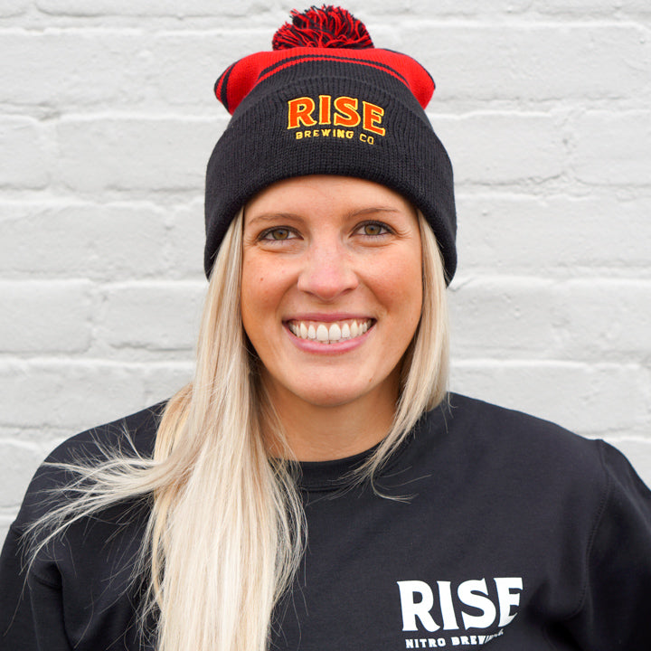 Fold Over Pom Beanie - RISE Brewing Co.