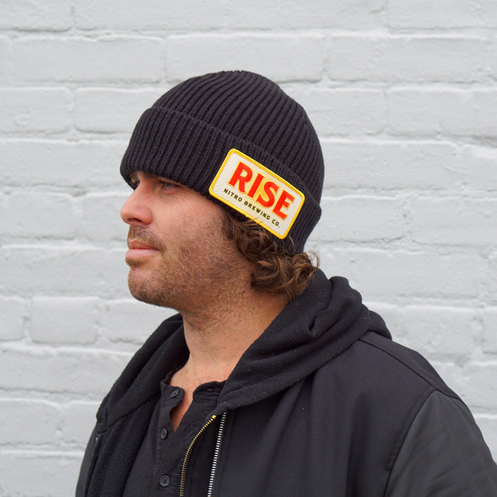 Fold Over Beanie - RISE Patch - Fold Over Beanie - RISE Patch