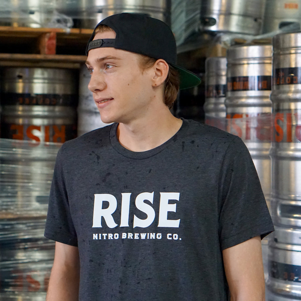Gray Logo Tee - RISE Brewing Co.