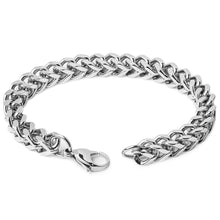 Stainless Steel Polished Franco Chain 8mm Wide - 8.5 Inches