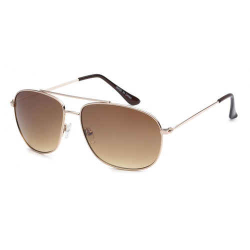 Aviator Sunglasses - Gold Frame with Brown Lens