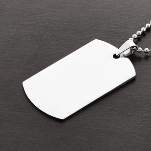 Polished Dog Tag Necklace with Ball Chain