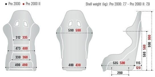 Sparco Pro 2000 Size Chart