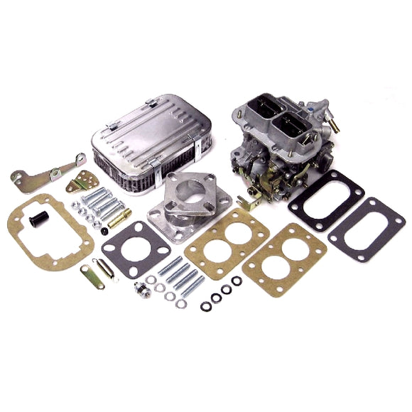 32/36 Weber DGV Carb Conversion Kit - Air Filter, adapter flange, fittings, etc