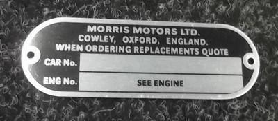Morris Chassis Plate