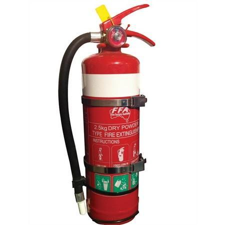 2.5 kg extinguiser with double strap