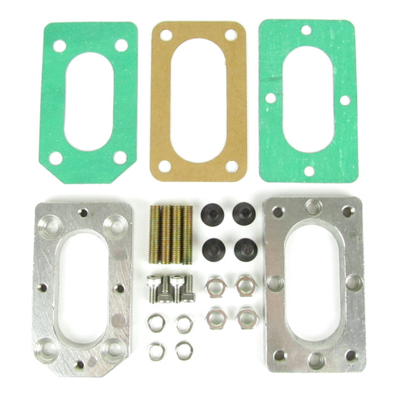 Weber DGV, DGAV or DGEV to Hitachi carburetor manifold adapter kit