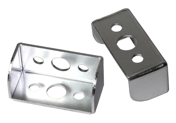Alloy Mudflap brackets Silver each