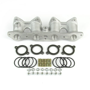"Ford Fiesta/ Escort Cross flow manifold for twin DHLA/DCOE short 3.1"" - M4242a"