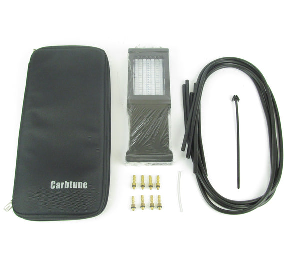 Carbtune Pro - 4 Column Manometer + Accessories and pouch