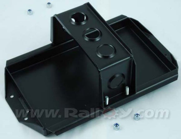 Varley 30 Alloy battery tray and strap vertical in black