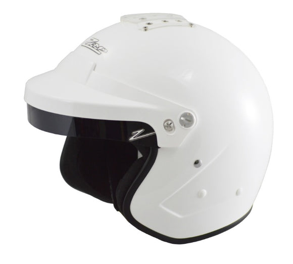 Zamp RZ-16H Open Face Helmet white or matt black- SA2015 with HANS posts