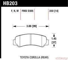 Toyota Corolla AE86 front Winmax brake pads W3 WMP067