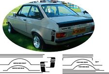 Ford Escort MK2 1600 sport stripe kit