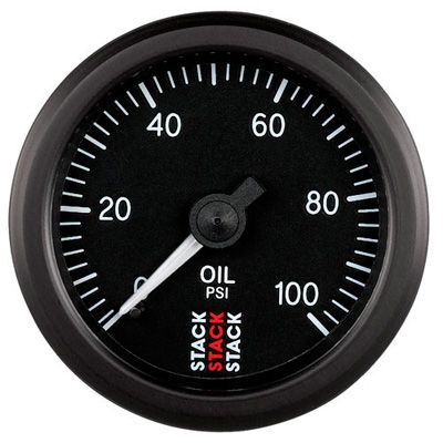 Stack oil pressure gauge mechanical