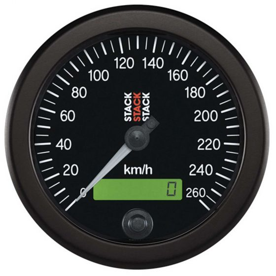 Stack 85mm Speedometer 0-260kph black