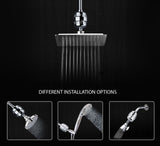 Shower Filter Universal High Output 10-Stage + 2 Cartridges + Hair Catcher + Foot Rasp (Removes Fluoride, Hard Water, Chlorine)