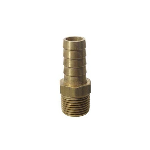 "Brass_Hose_Fitting_3/8""_MPT_X_1/2""_Barb"