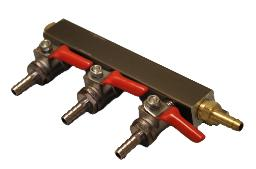 GAS MANIFOLD - 3 WAY