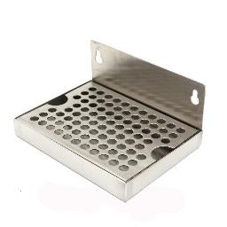 "Stainless_Steel_Wall_Mount_Drip_Tray_6""_X_6"""