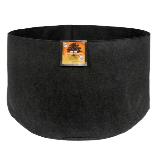 Gro Pro Essential Round Fabric Pot - Black 100 Gallon (15/Cs)
