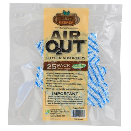 Harvest Keeper Air Out Oxygen Absorber 100 cc (1=25/Bag)