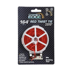 Grower's Edge Red Twist Tie Dispenser w/ Cutter 164 ft (6/Cs)