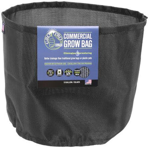 Gro Pro Elite 5 Gallon Black Commercial Grow Bag (75/Cs)
