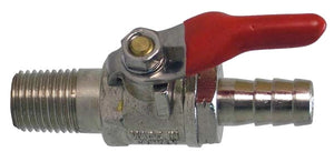 "AIR BALL VALVE 1/4""MPT X 3/8"" BARB"