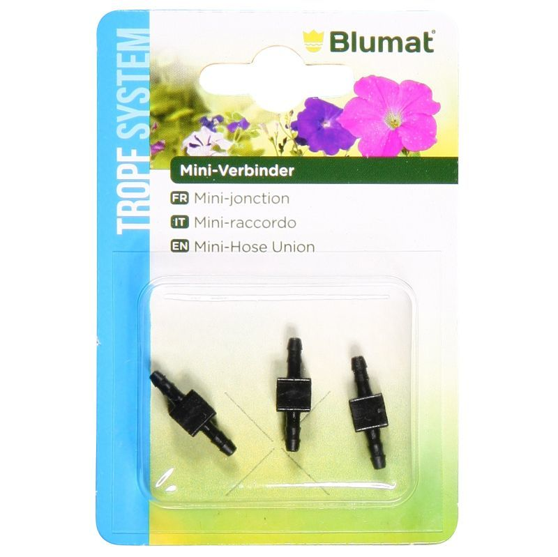 Blumat Drip System 3 Mini Connectors for 3mm Tubing