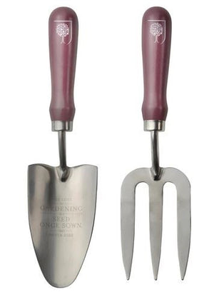 Burgon & Ball Passiflora Gift Boxed Trowel & Fork Set