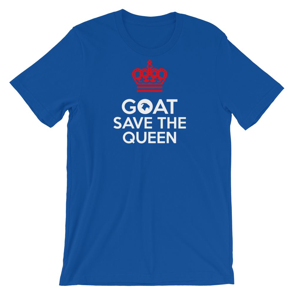 Goat save the queen Adult Unisex T-Shirt