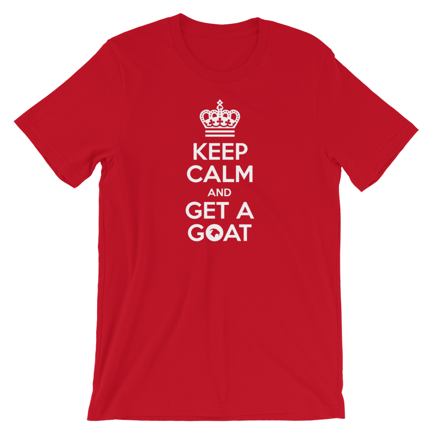 Keep calm and get a Goat Adult Unisex T-Shirt