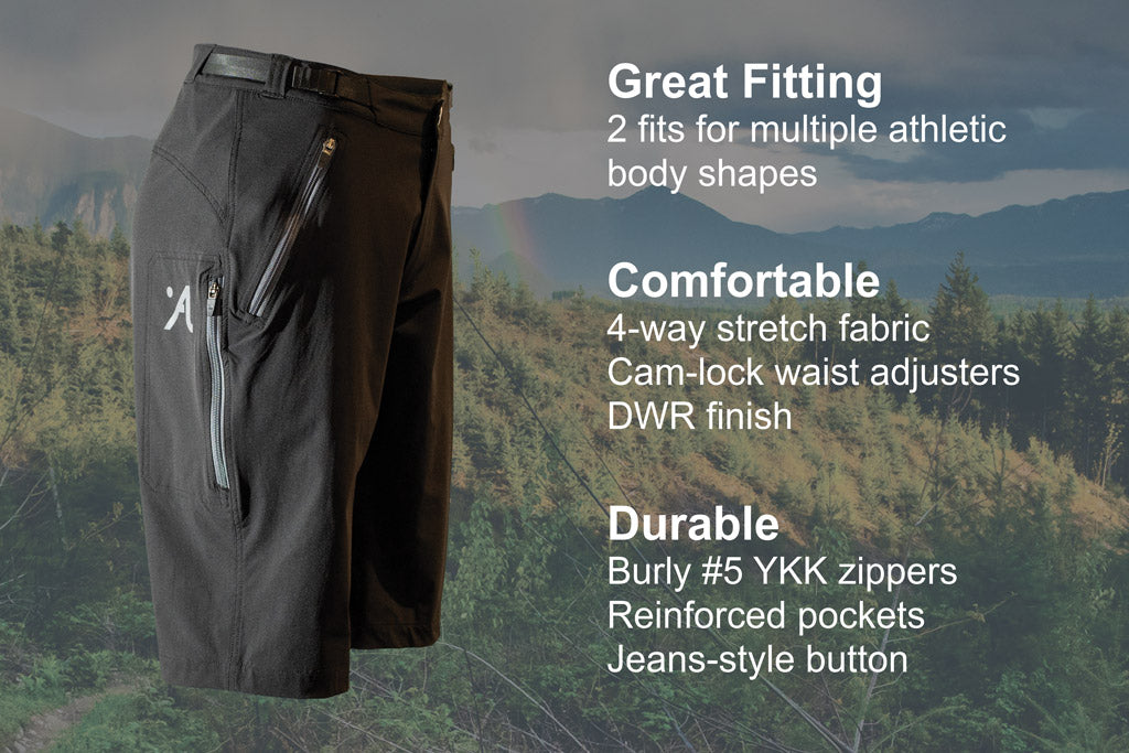 Abit Gear Enduro Mountain Bike Short Features
