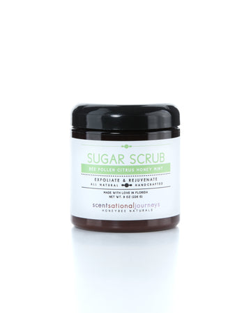 Bee Pollen Citrus Honey Mint Sugar Scrub 8oz