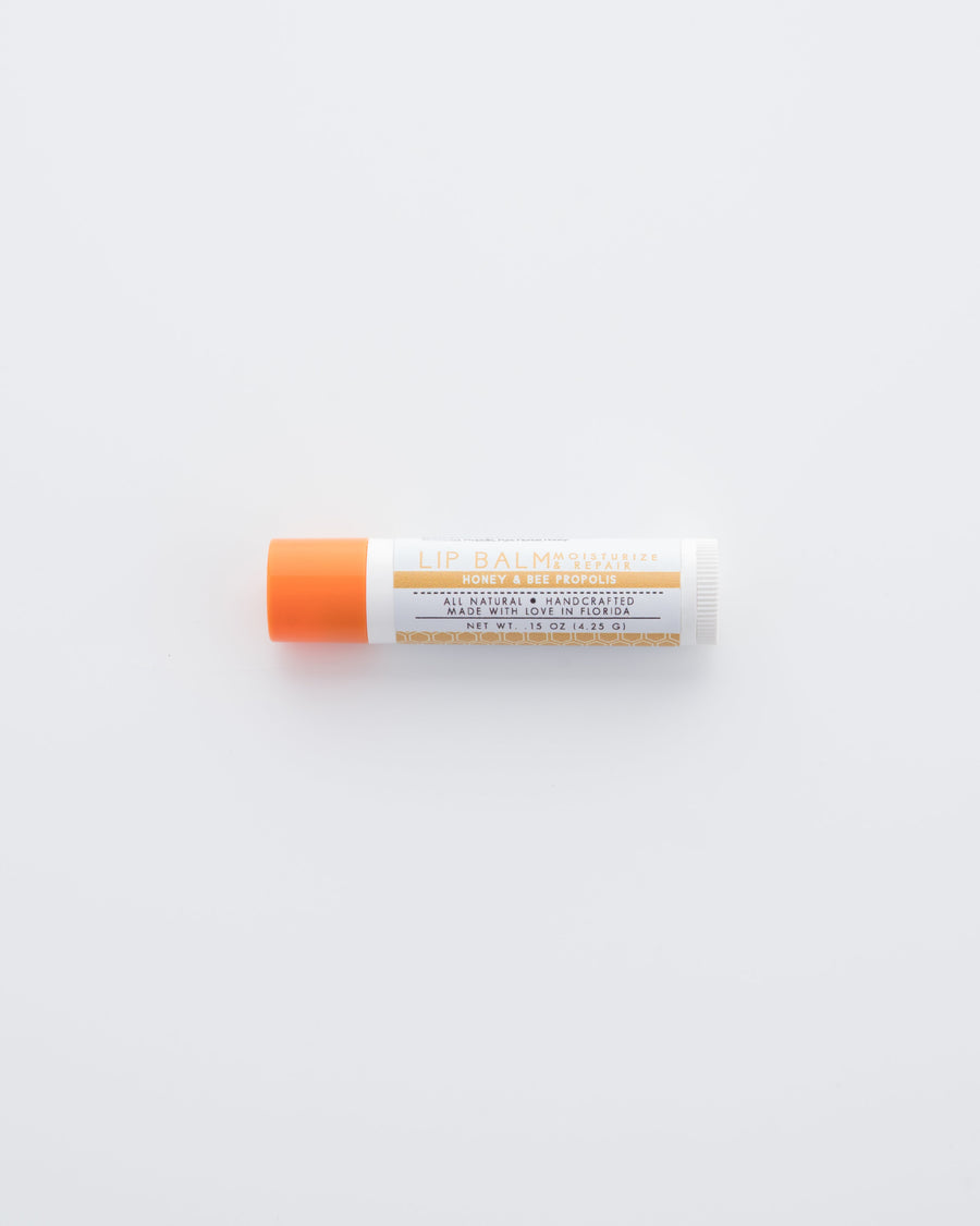Honey & Bee Propolis Lip Balm Above View