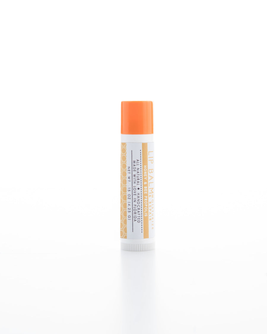 Honey & Bee Propolis Lip Balm Front View