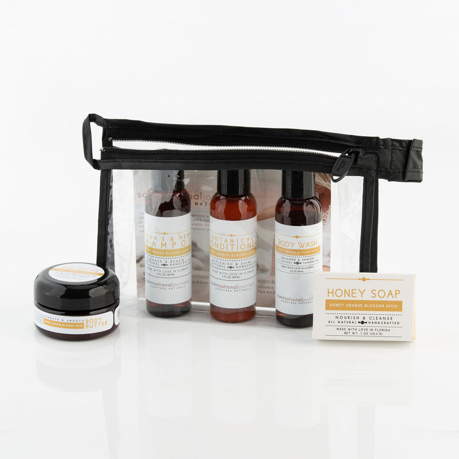 HoneyBee Naturals Travel Amenity Kit (choose your scent)