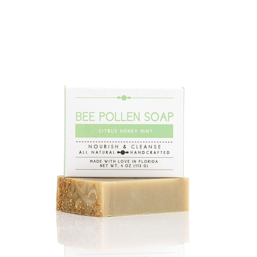 Bee Pollen Citrus Honey Mint Soap