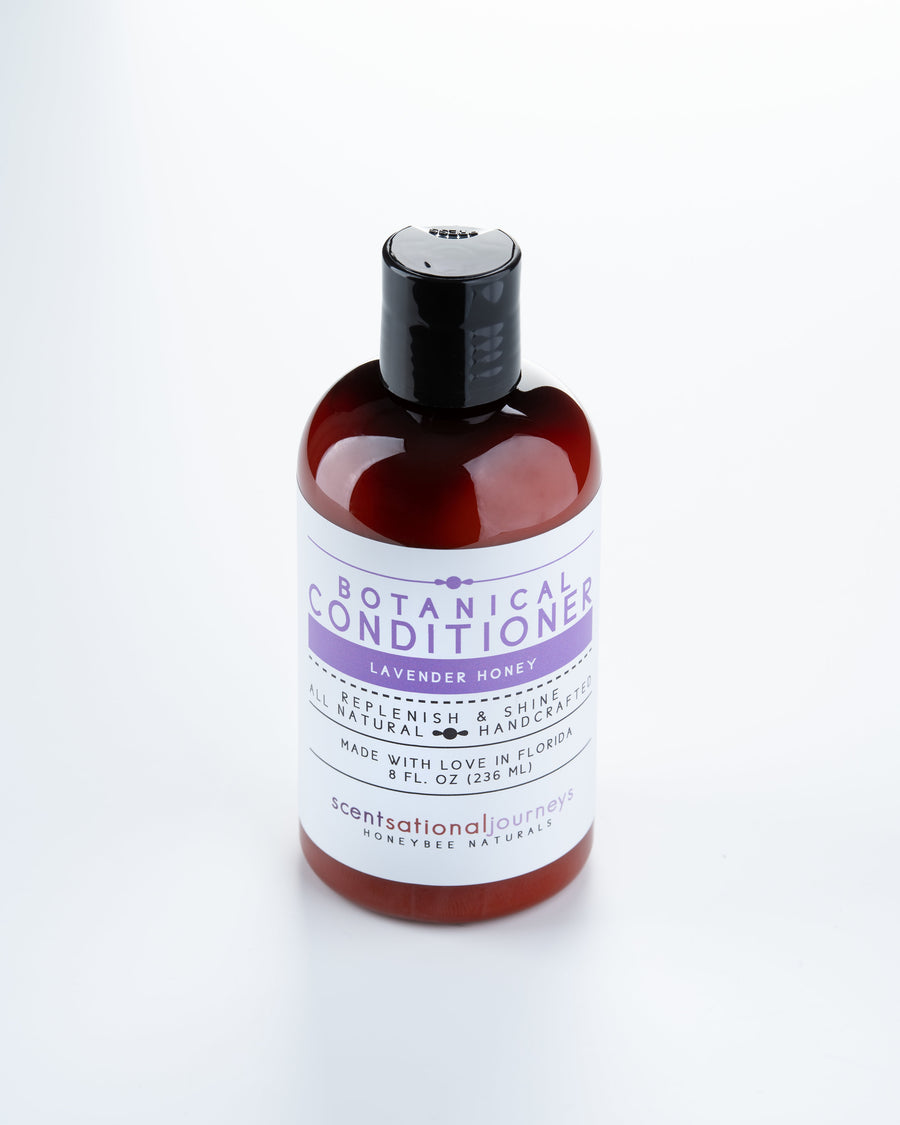 Lavender Honey Botanical Conditioner Above View 8fl oz