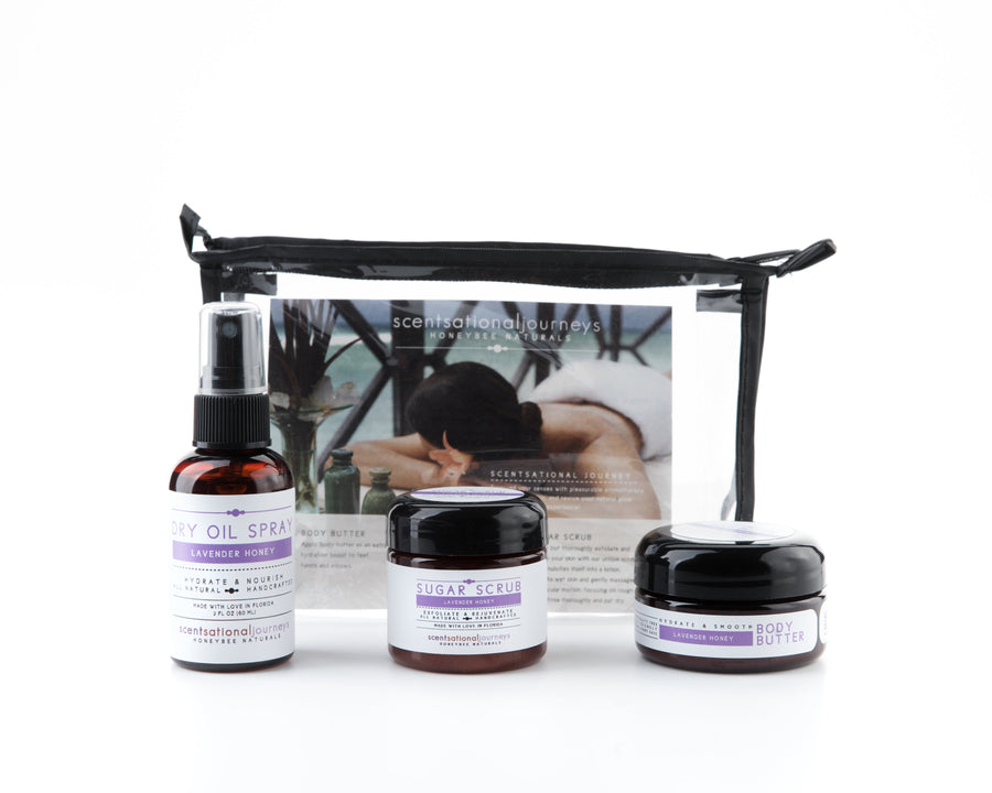 Lavender Honey Signature Florida Collection Travel Amenity Spa Kit