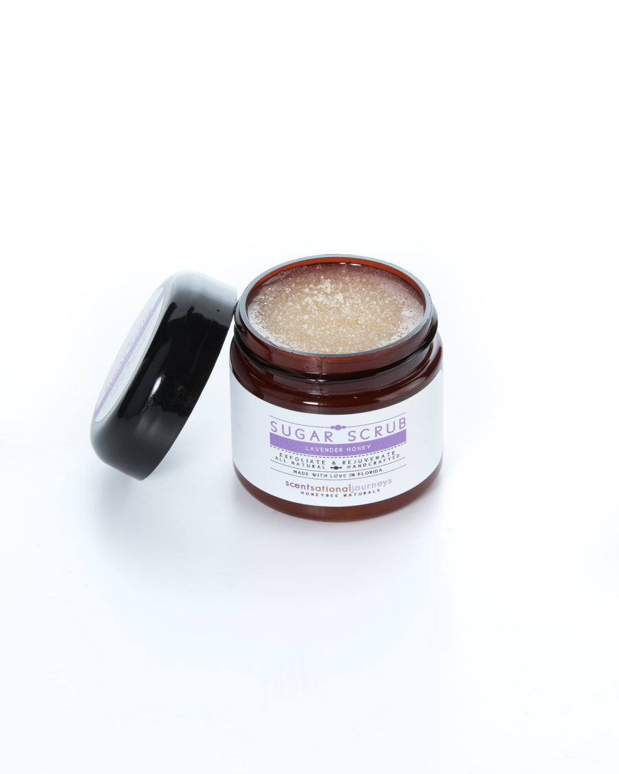 Lavender Honey Sugar Scrub Lid Open 2oz