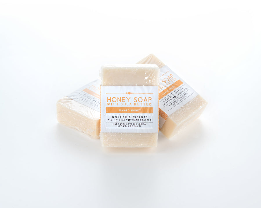 Mango Honey Shea Butter Soap Splay View 4oz