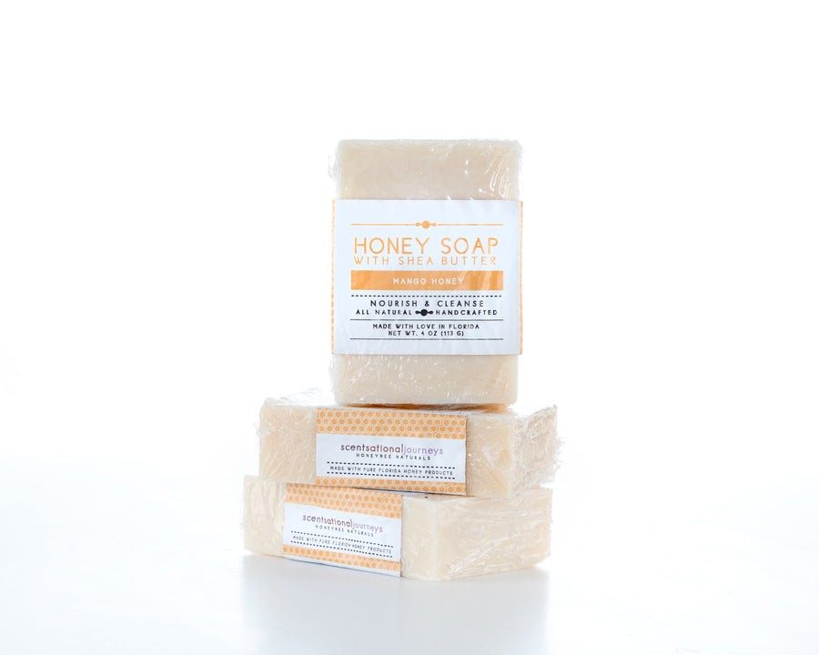 Mango Honey Shea Butter Soap Stack View 4oz